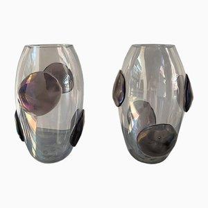 Vasen mit Mustern aus Muranoglas von Costantini Murano, 1990er, 2er Set