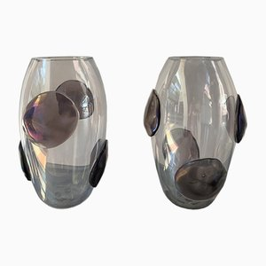 Vases With Murano Glass Patterns from Costantini Murano, 1990s, Set of 2