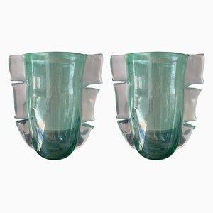 Vasi in vetro di Murano di Constantini Murano, anni '90, set di 2