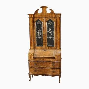 Mobiletto veneziano con intarsi in legno di noce, acero, faggio e legno
