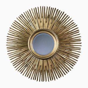 Sun Carved Wooden Mirror