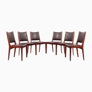 Danish Rosewood Chairs by Johannes Andersen for Uldum Møbelfabrik, 1960s, Set of 6