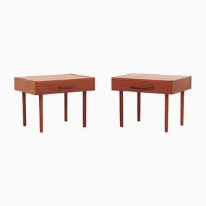 Tables de Chevet en Teck de PBJ Møbler, Danemark, 1970s, Set de 2