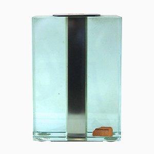 Jarrón italiano de vidrio de Fontana Arte, años 60