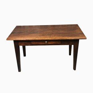 Mesa de granja / escritorio de nogal