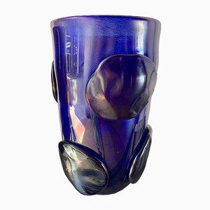 Blaue Vasen mit Murano Glas Pellets von Sergio Costantini, 1990er, 2er Set