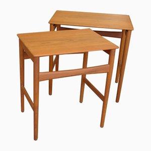 Tables d'Appoint en Teck par Andreas Tuck pour Hans J. Wegner, Danemark, 1960s, Set de 2