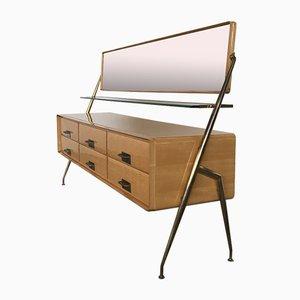Maple Dresser with Mirror by Silvio Cavatorta, Italy, 1950s