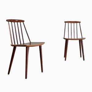 J77 Dining Chairs by Folke Klsson for FDB Møbelfabrik, 1960s, Set of 2