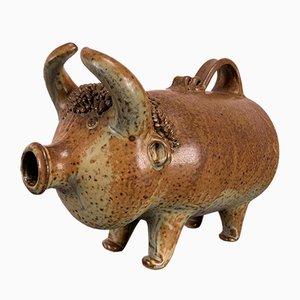 Toro in ceramica a forma di bottiglia di Elly & Wilhelm Kuch per Studio Ceramics, Germania, anni '70