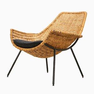 Rattan Lounge Armchair by Giancarlo De Carlo, Italy, 1954