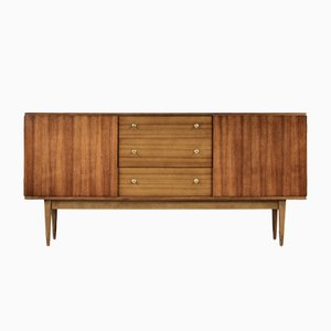 Mid-Century British Walnut and Brass Sideboard from Wrighton, 1960s