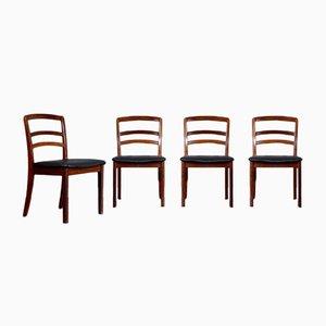Chaises de Salle à Manger en Teck et Similicuir de G-Plan, 1960s, Set de 3
