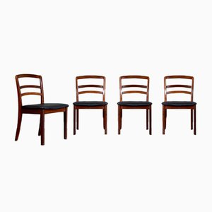 Sedie da pranzo in teak e similpelle di G-Plan, anni '60, set di 3