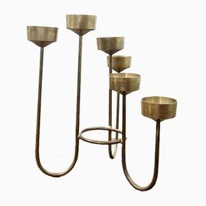 Scandinavian Brass Candleholder, 1950s