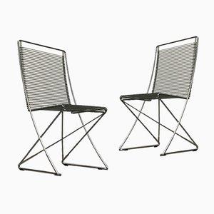 Deutscher Vintage Kreuzschwinger Sessel von Till Behrens für Meyer Stahlmöbel, 1980er