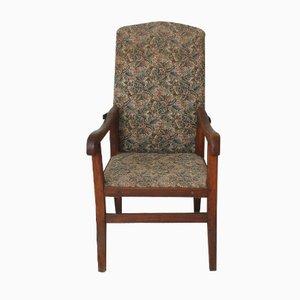 Poltrona vintage con schienale reclinabile, anni '20