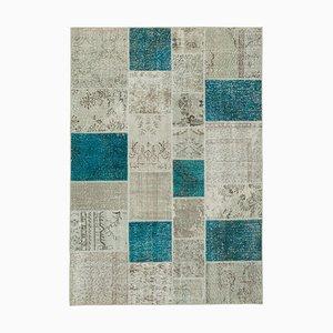 Beige Patchwork Teppich