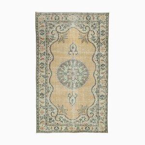 Beiger türkischer Vintage Area Teppich