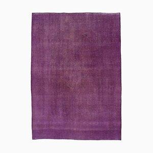 Lila Überfärbter Großer Teppich