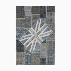 UK Flag Patchwork Teppich