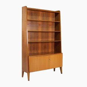 2-türiges Bücherregal aus Nussholz