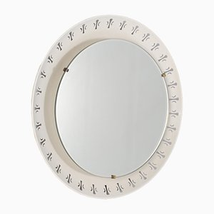 Bright Mirror Made of Perforated Sheet Metal, Hillebrand.
