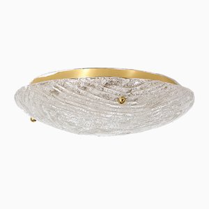 Blown Glass and Brass Ceiling Light