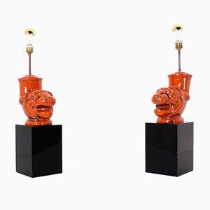 Jaguar Lamps, Set of 2