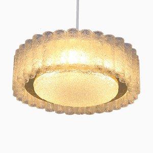 Deckenlampe aus geblasenem Glas von Doria