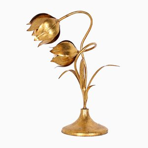 Gold Flowers Lamp by Hans Kögl