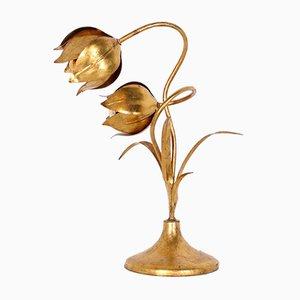 Goldene Blumen Lampe von Hans Kögl