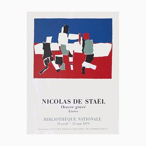 Poster Expo 79 National Library, Work Engraved & Books di Nicolas De Stael