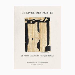 Poster Expo 98 Bibliotheca Wittockiana, Bruxelles, Le livre des portes di François Rouan