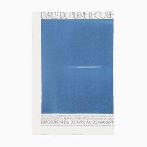 Poster Expo 75, Villa Arson, Livres de Pierre Lecuire di Geneviève Asse
