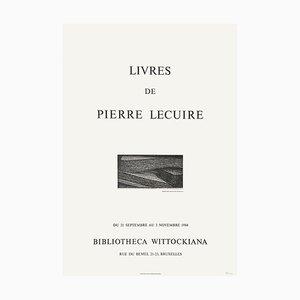 Expo 84 Poster, Bibliotheca Wittockiana, Bruxelles, Livres de Pierre Lecuire by Christian Fossier