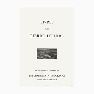 Poster Expo 84, Bibliotheca Wittockiana, Bruxelles, Livres de Pierre Lecuire di Christian Fossier