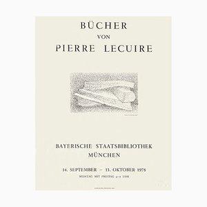 Expo 78 Poster, Staatsbibliothek München, Bücher von Pierre Lecuire by Véra Pagava