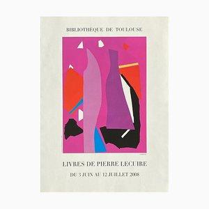 Expo 2008 Poster, Bibliothèque de Toulouse, Livres de Pierre Lecuire von André Lanskoy