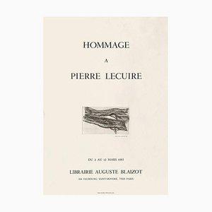 Expo 83 Poster, Librairie Auguste Blaizot, Hommage à Pierre Lecuire von Maria Elena Viera Da Silvia