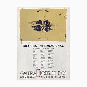 Expo 75 Poster, Galeria Kreisler Dos by Antoni Tapies
