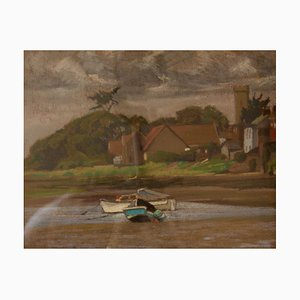 By the Sea, metà XX secolo, paesaggio impressionista ad olio di Innes, anni '60