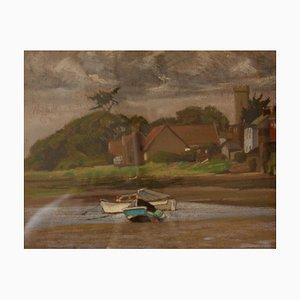 By the Sea, Mid-Century, Oil Pastel Landscape de Innes, años 60