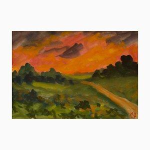 Sunset in the Country, frühes 20. Jahrhundert, Impressionistisches Stück, Michael Quirke, 2000
