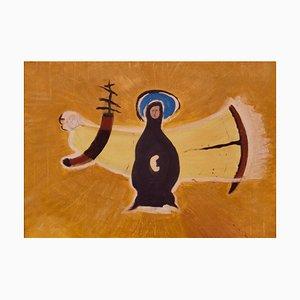 Annonciation, Spätes 20. Jh., Abstraktes Ölgemälde von George De Goya, 1960er
