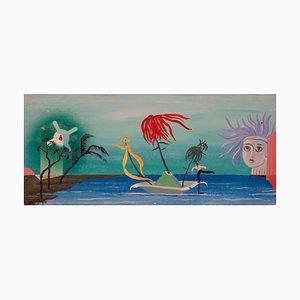 Homeward Bound Dream, Spät Mitte des 20. Jh., Abstrakte Ölgemälde, George De Goya, 1977
