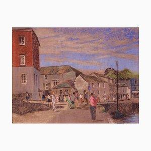 Cornish Seaside, fine XX secolo, olio impressionista, William Innes, 1970