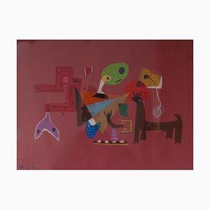 Abstraktes Stück, Mitte des 20. Jahrhunderts, Abstraktes Tierstück von George De Goya, 1950er
