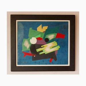 Abstraktes Ölgemälde, Mitte 20. Jh., Mischtechnik von George De Goya, 1970er