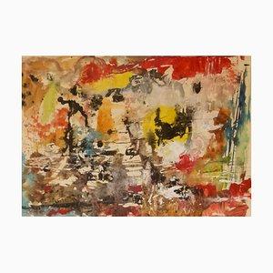 Messy Colourful Abstract, 20. Jh., Aquarell von Z. Krajewska
